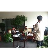 上海苏州市维稳办领导来公司调研